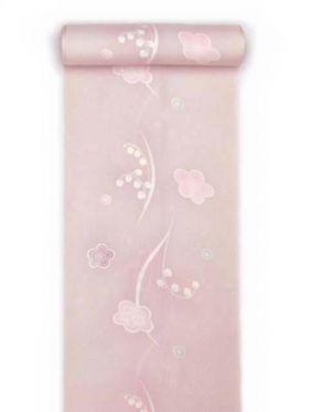 正絹長襦袢 田原なおみこれくしょん 梅すずらん ワインピンク