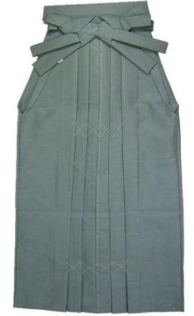 野袴 紬 色番3 青グレー