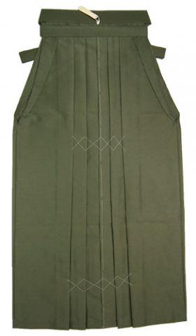 野袴 紬 色番8 濃緑