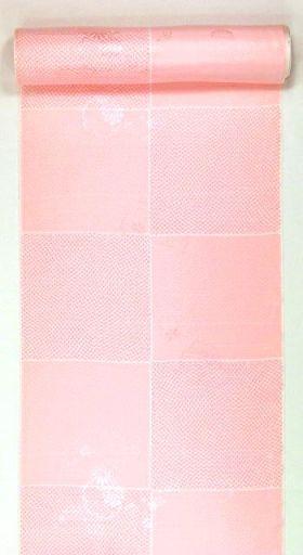 正絹振袖用襦袢 糊友禅 鹿の子市松 ピンクにピンク鹿の子 クイーン