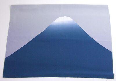 富士山絞り 男物額裏 鉄紺