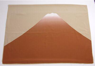 富士山絞り 男物額裏 茶色