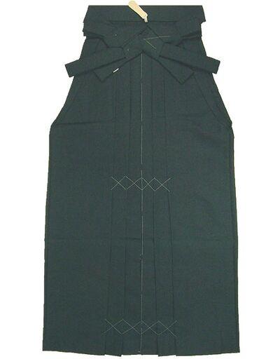 野袴 紬 色番4 濃緑紺