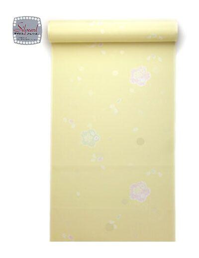 洗える長襦袢 反物 絞り柄 クリーム 水玉紋意匠