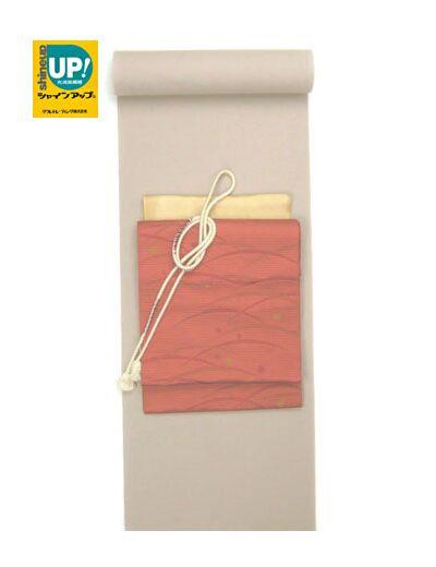 洗える着物 色無地 光触媒消臭 白茶 トールサイズ対応反物
