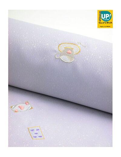 洗える着物 刺繍小紋 トランプゲーム 薄藤紫色 光触媒消臭