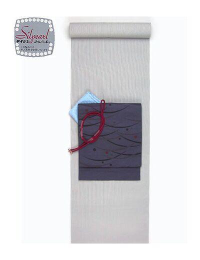洗える着物 万筋(極細縞)/TL寸可能40cm巾 幅広 グレーNo.8