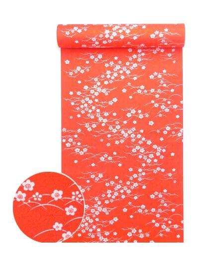 洗える紅(赤)襦袢 露芝に梅
