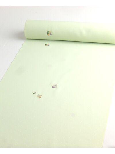 洗える着物 刺繍小紋 薄ひわ色(薄緑系) 光触媒消臭 色紙