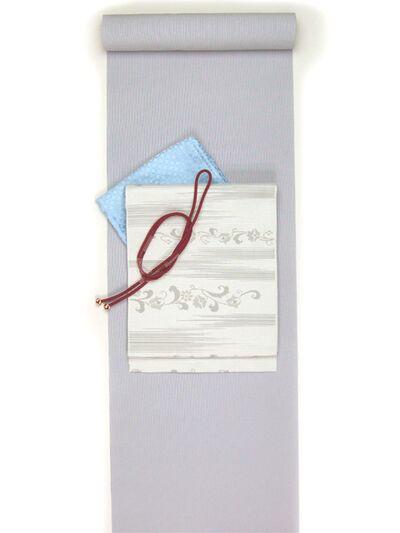 洗える着物 万筋(極細縞)/超TL寸可能42cm巾/裄丈80cm可 ブルー