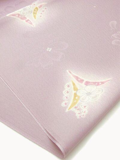 正絹 帯揚げ 花散らし 紫