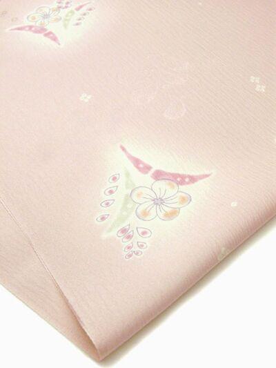 正絹 帯揚げ 花散らし 桜色