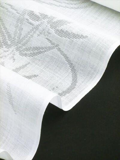 洗える長襦袢 本麻 夏物 紋紗 流水に笹柄 生地拡大