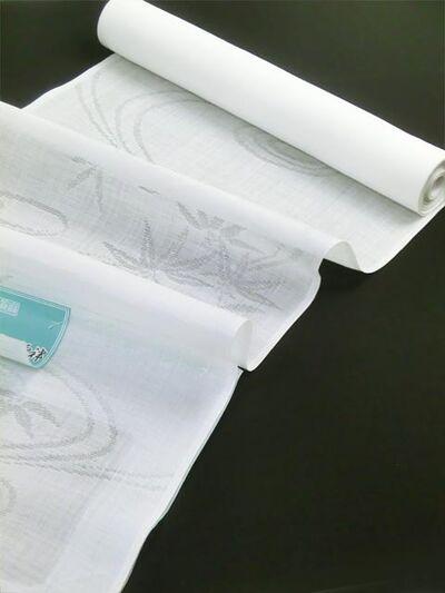 洗える長襦袢 本麻 夏物 紋紗 流水に笹柄 置いた画像