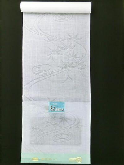 洗える長襦袢 本麻 夏物 紋紗 流水に笹柄 縦置き