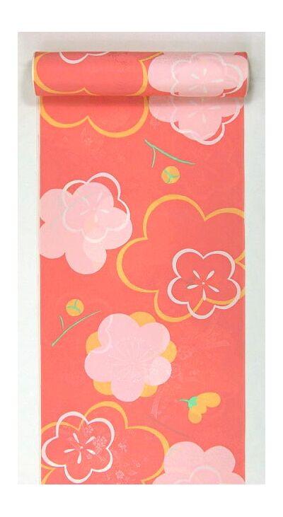 正絹振袖用襦袢 糊友禅 桜柄 紫 ピンク クイーンサイズ