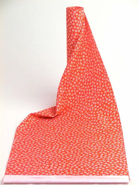 洗える長襦袢 赤 小桜