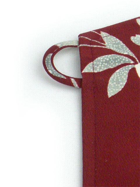和柄 電磁波(電界波)シールドウェアエプロン『京まもろん』枝垂れ桜 赤