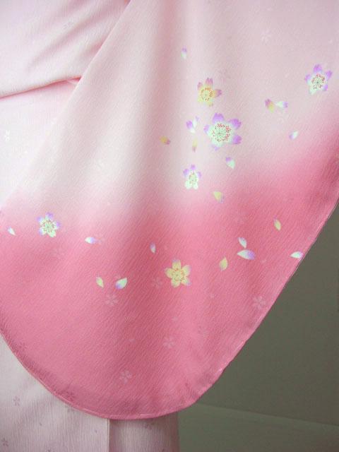 袴用着物アート小町二尺袖きものK503/ピンク系 袖