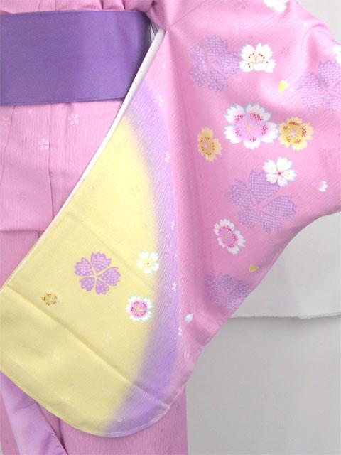 袴用着物アート小町二尺袖きものK501/藤紫系 袖