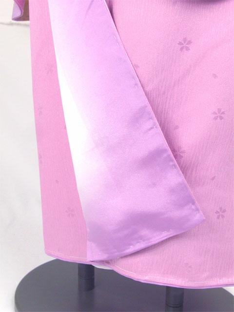 袴用着物アート小町二尺袖きものK501/藤紫系 裾と八掛