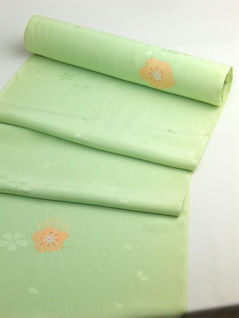 正絹長襦袢 桜吹雪に絞り 緑/本絞り