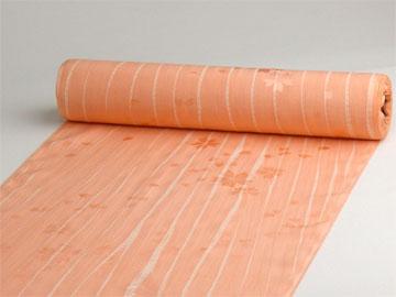 正絹長襦袢 桜吹雪に柳絞り サーモン/ベージュ