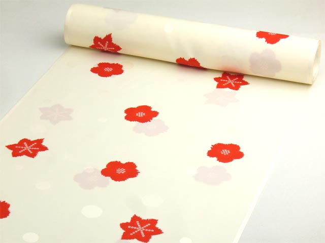 洗える長襦袢 舞妓さんのお好み襦袢 クリーム 水玉地紋