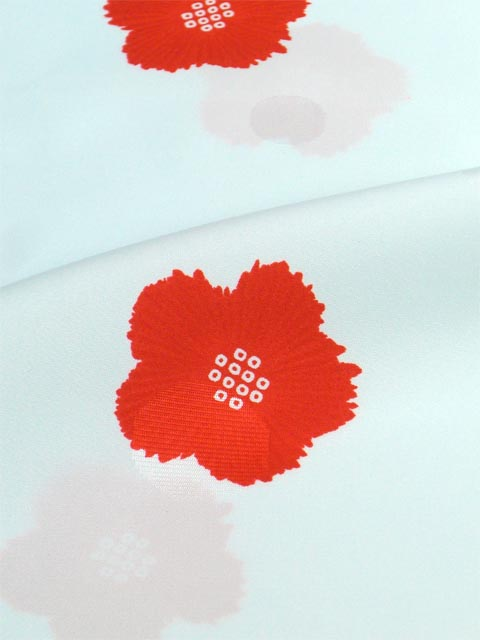 洗える長襦袢 舞妓さんのお好み襦袢 水色 水玉地紋