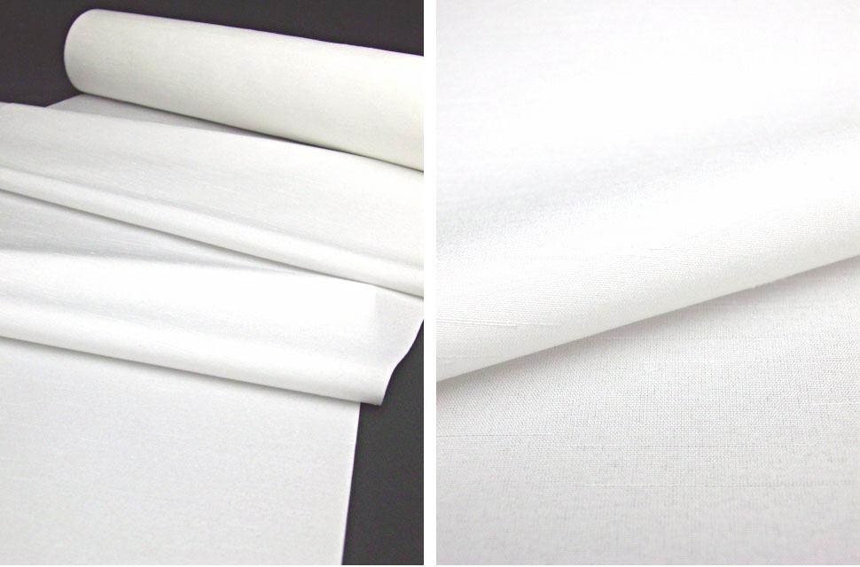洗える男着物 紬(テイジンシルパール) 白