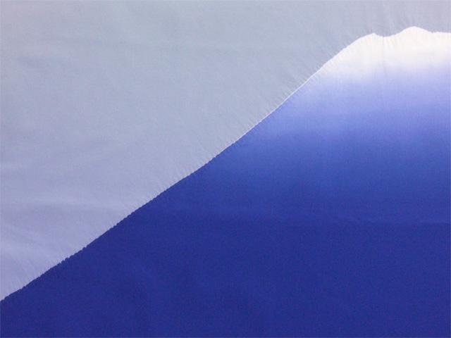 男物額裏 富士山絞り 紺