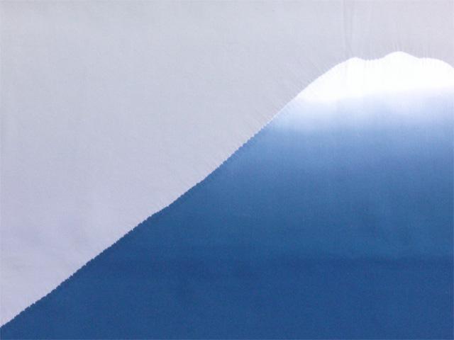 男物額裏 富士山絞り 鉄紺