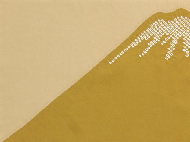 男物額裏 富士山絞り 金茶