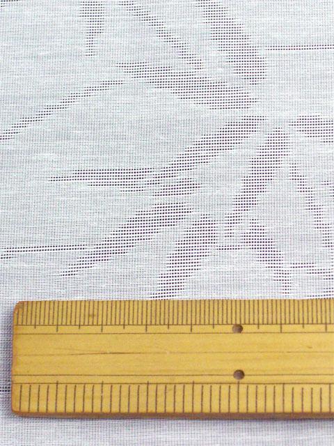 洗える長襦袢 夏物 紋紗 露芝に笹柄