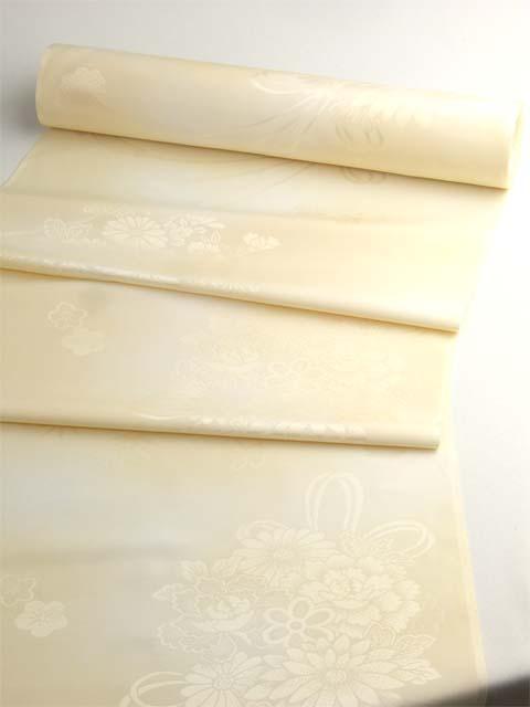 洗える長襦袢 クイーンサイズ 花籠紋 クリームぼかし