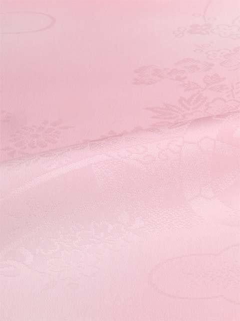 洗える長襦袢 クイーンサイズ 花籠と御所車紋 水色ぼかし