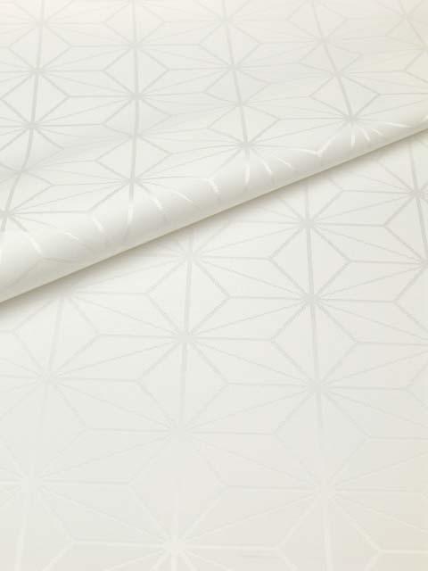 洗える長襦袢 白 クイーンサイズ 麻の葉紋