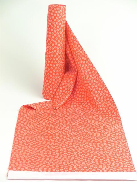 洗える長襦袢 赤 菊