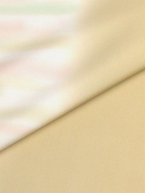 正絹長襦袢手ぼかし 辛子色