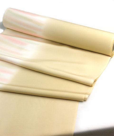 正絹長襦袢手ぼかし 金茶