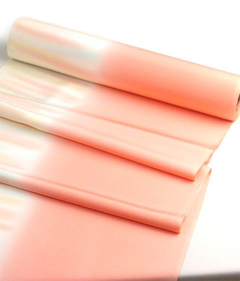 正絹長襦袢手ぼかし サーモンピンク