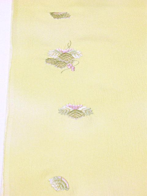 正絹内袖刺繍長襦袢(内袖暈し) クリーム色