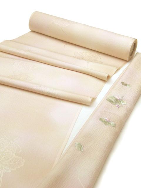 正絹内袖刺繍長襦袢(内袖暈し) ピンク色