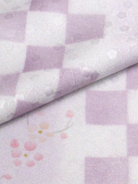 丹後産正絹襦袢 梅市松 藤色(淡紫)