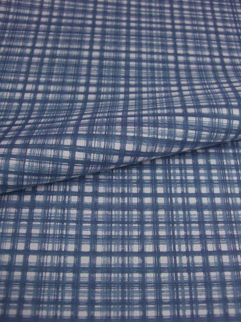 洗える男襦袢 小紋柄 しけ柄 青