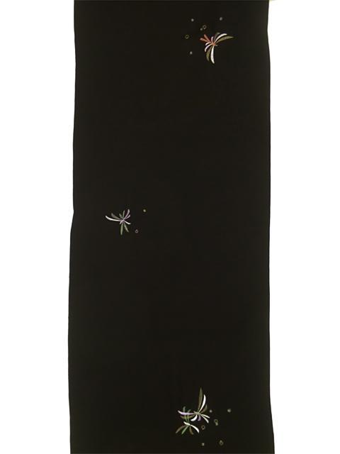 刺繍小紋用 日本刺繍 とんぼ 黒 全体 opsisyu-tonbo-bl