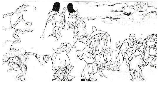 着物の文様-鳥獣戯画