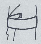 帯の結び方/貝の口3