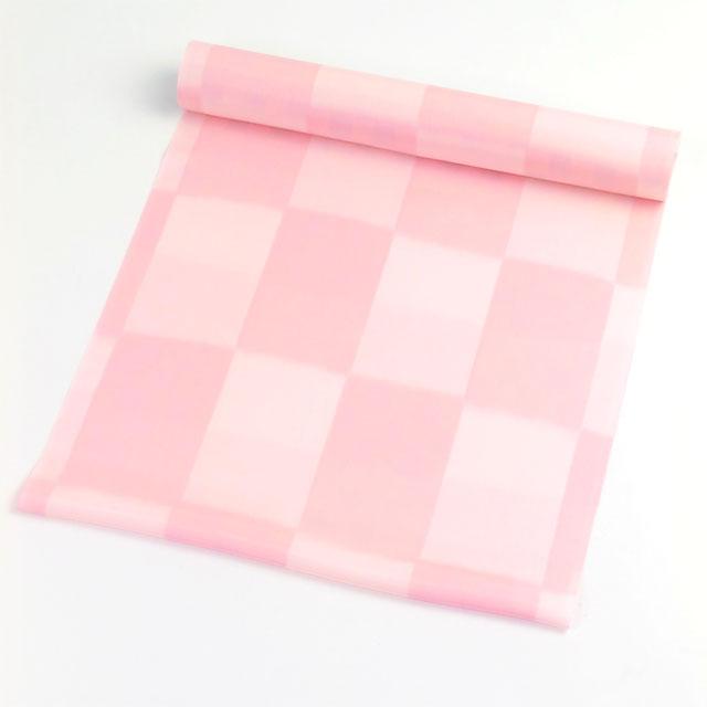 正絹肩裏 無地に市松 ピンク