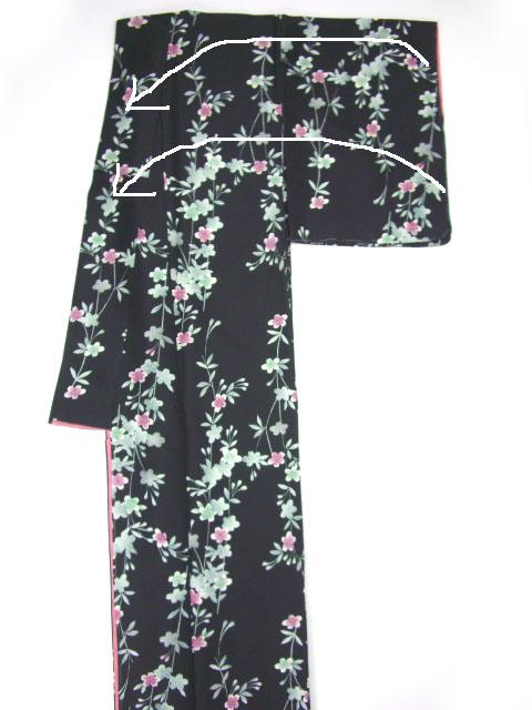 着物のたたみ方-袖だたみ